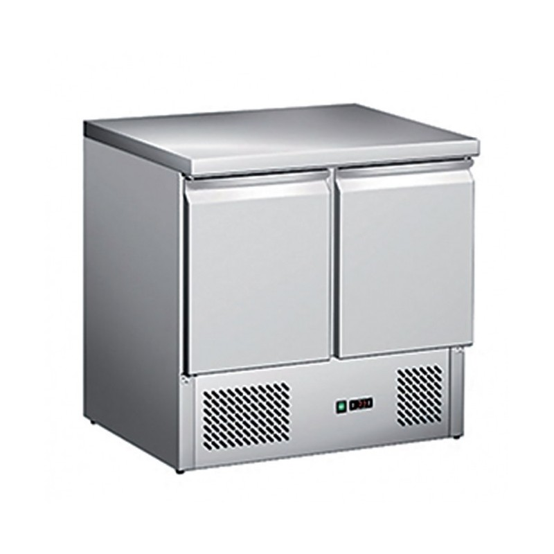 CHR-AVENUE - Table réfrigérée 2 portes GN 1/1, groupe en dessous