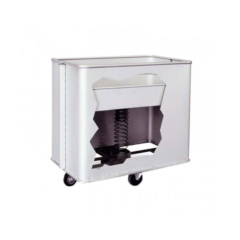 TECNOX - Chariot de blanchisserie fond mobile 80-100 kg - 545 L