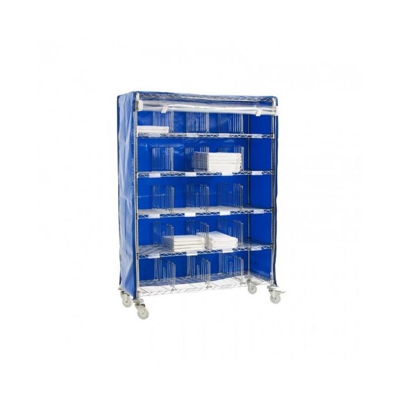 TECNOX - Chariot-résidents - 16 casiers - avec option housse