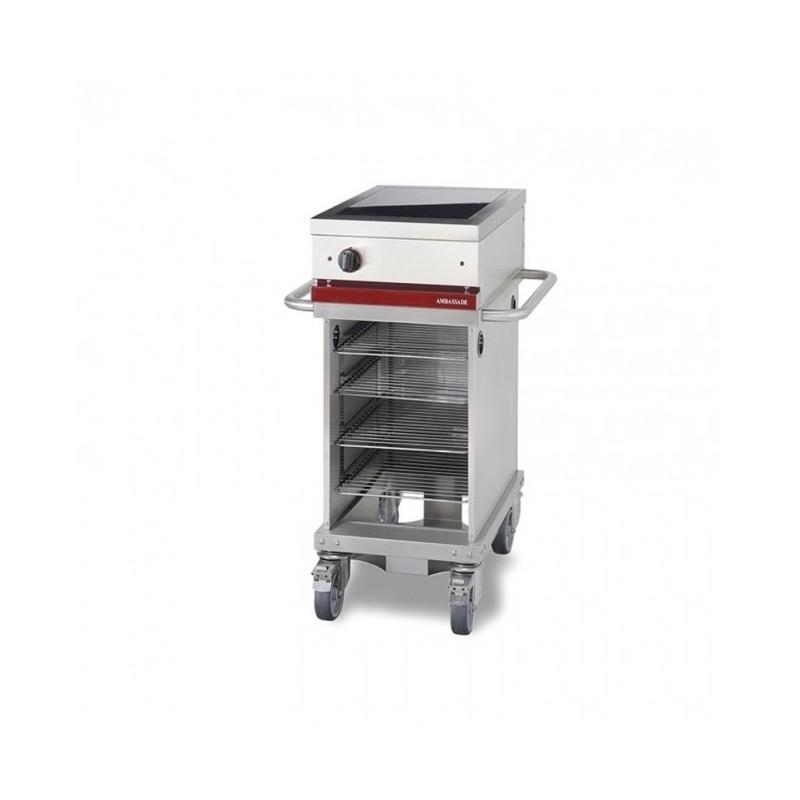 Table de cuisson électrique 1 foyer radiant - 4 niveaux cuisson mobile