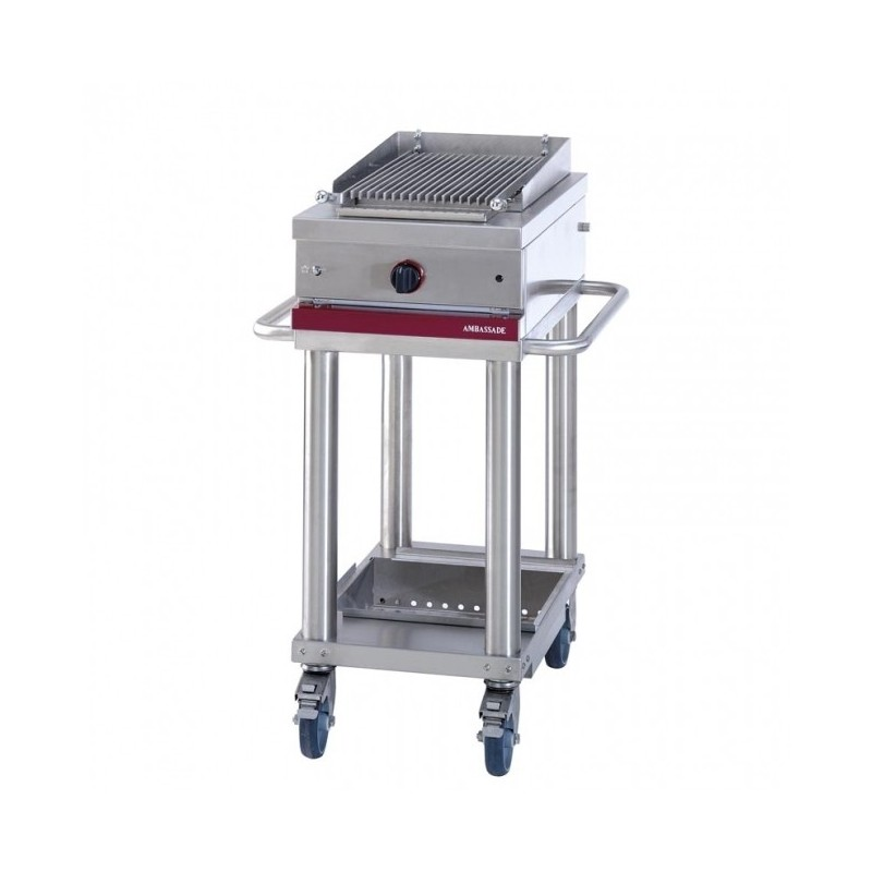 Gril gaz à pierre de lave mobile - 270 x 470 mm