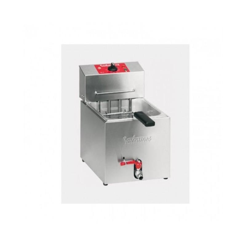VALENTINE - Friteuse de table 7 L professionnelle - 4.6 kW - avec robinet
