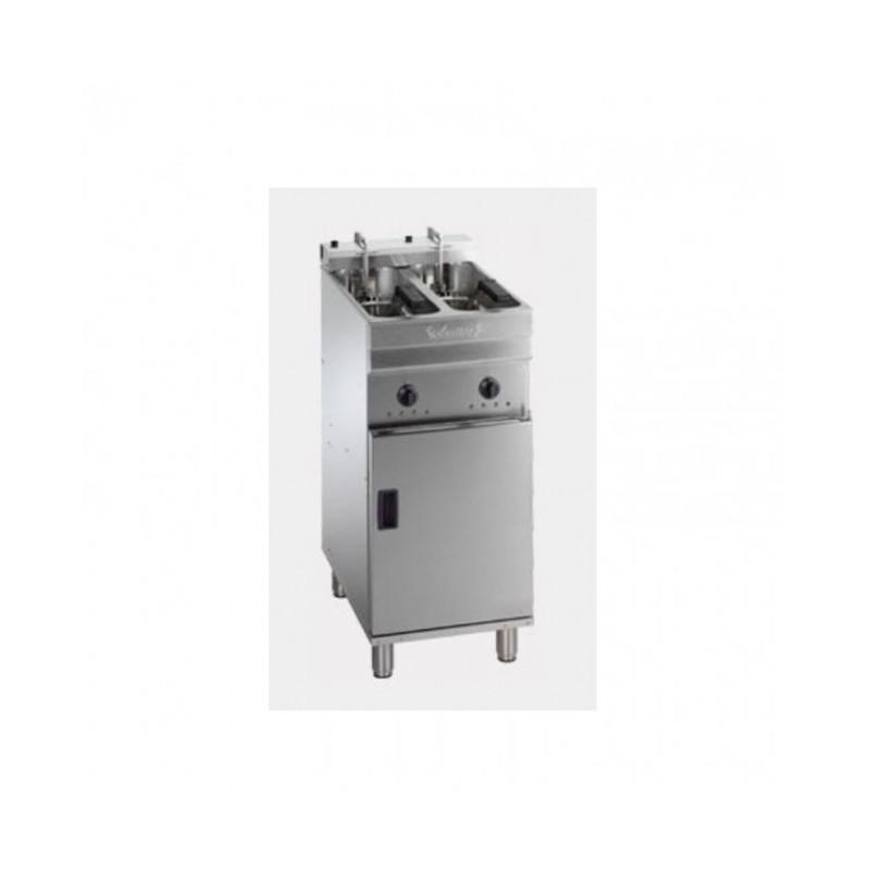 VALENTINE - Friteuse électrique sur coffre - 2 x 7/8 L - 14.4 kW