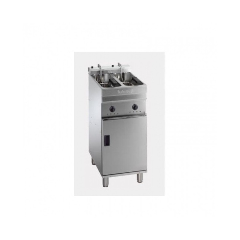 VALENTINE - Friteuse électrique sur coffre - 2 x 7/8 L - 22 kW professionnelle