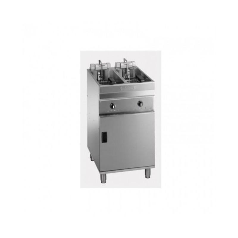 VALENTINE - Friteuse électrique sur coffre - 2 x 9/10 L - 22 kW professionnelle