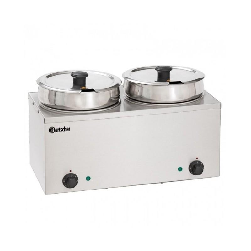 BARTSCHER - Bain-Marie Hotpot - Inox - 2 pots à 3.5 L - de 0 à 95 °C