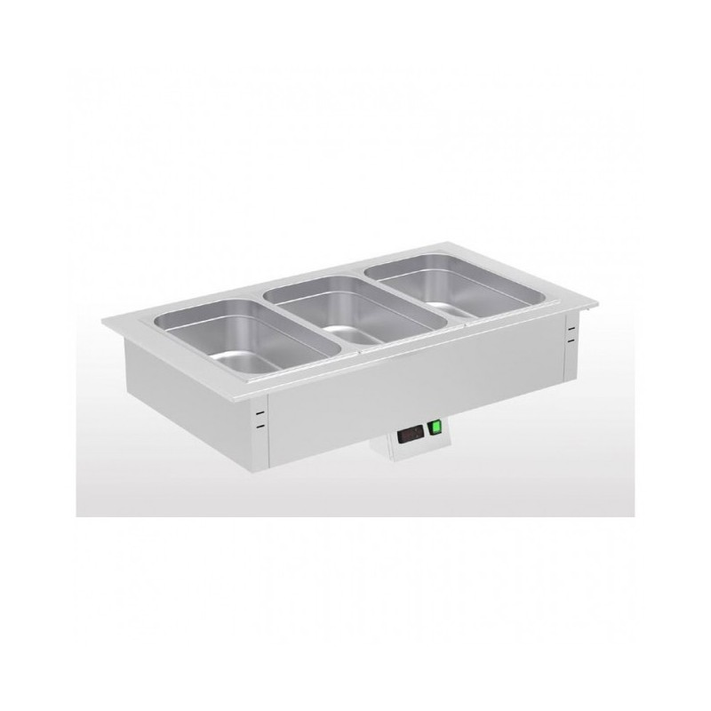 ERATOS - Cuves bain-maries à eau pour buffets chauds à encastrer - Inox +30° à +90°C
