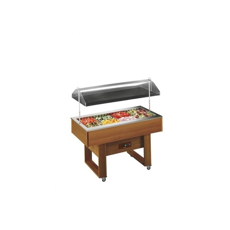 TECFRIGO - Buffet à hors d'oeuvre réfrigéré - 4 x GN 1/1 - Relevage électrique