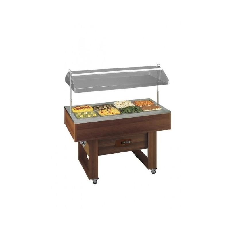 TECFRIGO - Buffet chauffant (Capacité 4 x GN 1/1) - Coupole relevable - Robinet de vidange