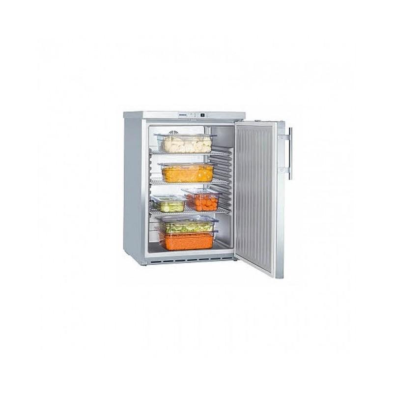 LIEBHERR - Armoire frigorifique de stockage inox 141 L, porte pleine
