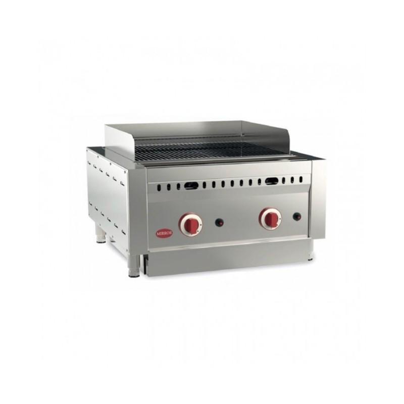 MIRROR - Grill barbecue à gaz - 510 x 425 mm - Viande et poisson