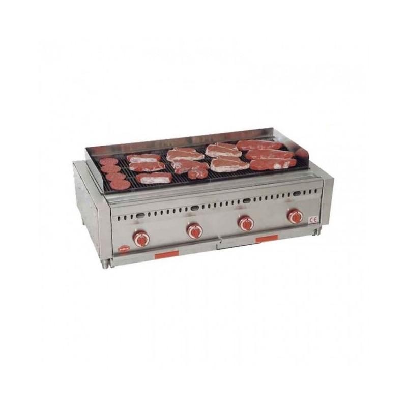 MIRROR - Grill barbecue à gaz - 1020 x 425 mm - Viande et poisson
