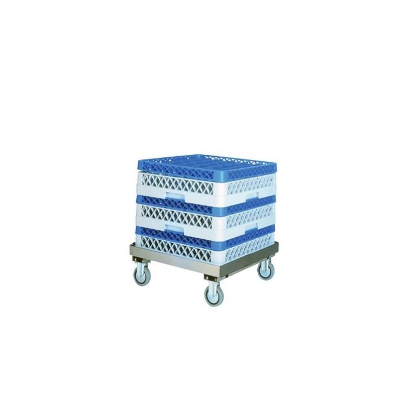 L2G - chariot inox porte casiers lave-vaisselle