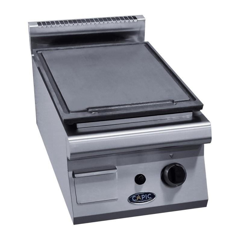 CAPIC - Plancha professionnelle surface lisse en fonte L. 400 mm gamme Aven 700 de Capic
