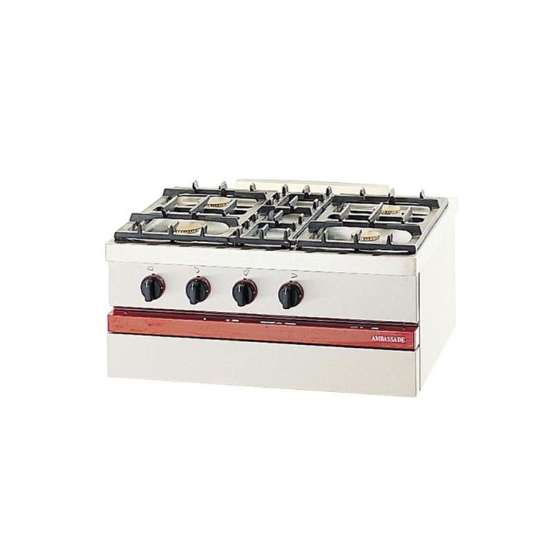 AMBASSADE - Table gaz à poser, 4 feux vifs