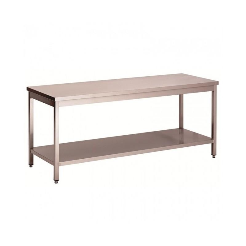 L2G - Tables inox centrales démontables avec étagère