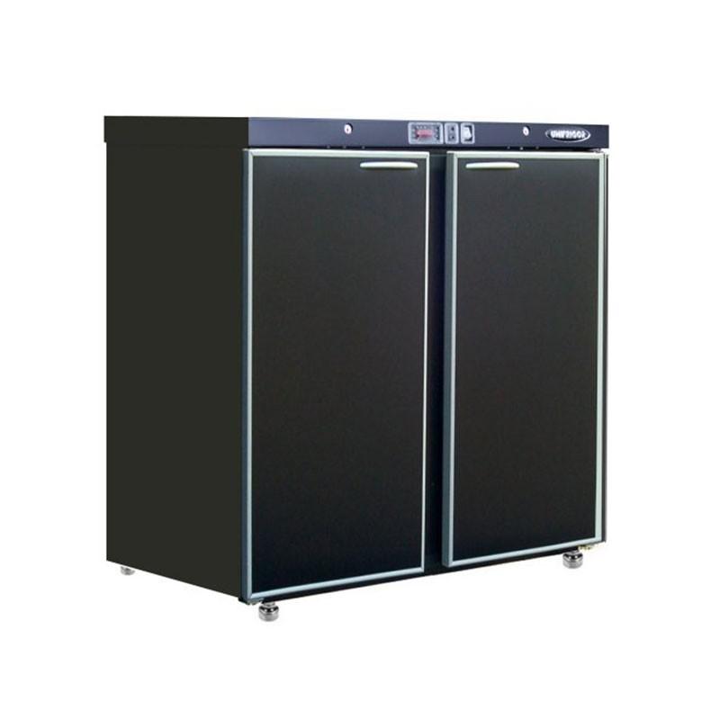 UNIFRIGOR - Arrière bar skinplate 190 L, 2 portes pleines positives, UNIBAR CLASSIC