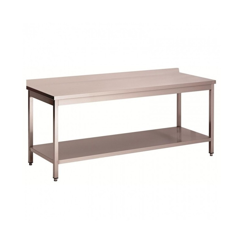 CHR-Avenue - Tables inox adossées démontables avec étagère