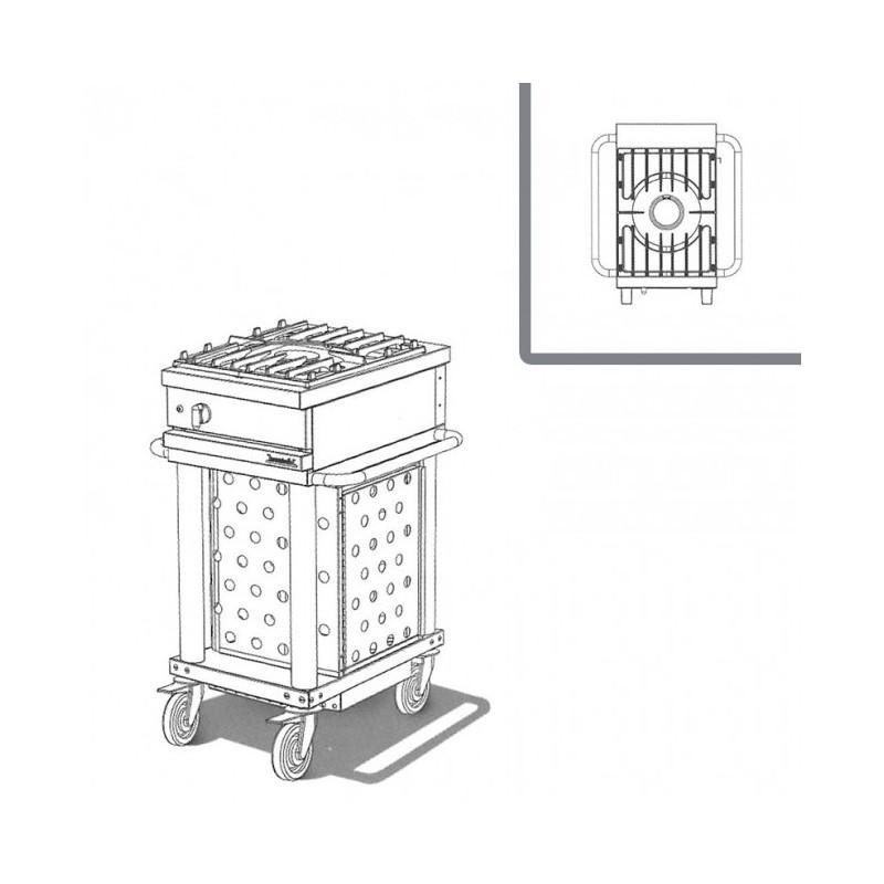 WESTAHL - Table de cuisson gaz 1 feu vif, sur module, SANS couvercle