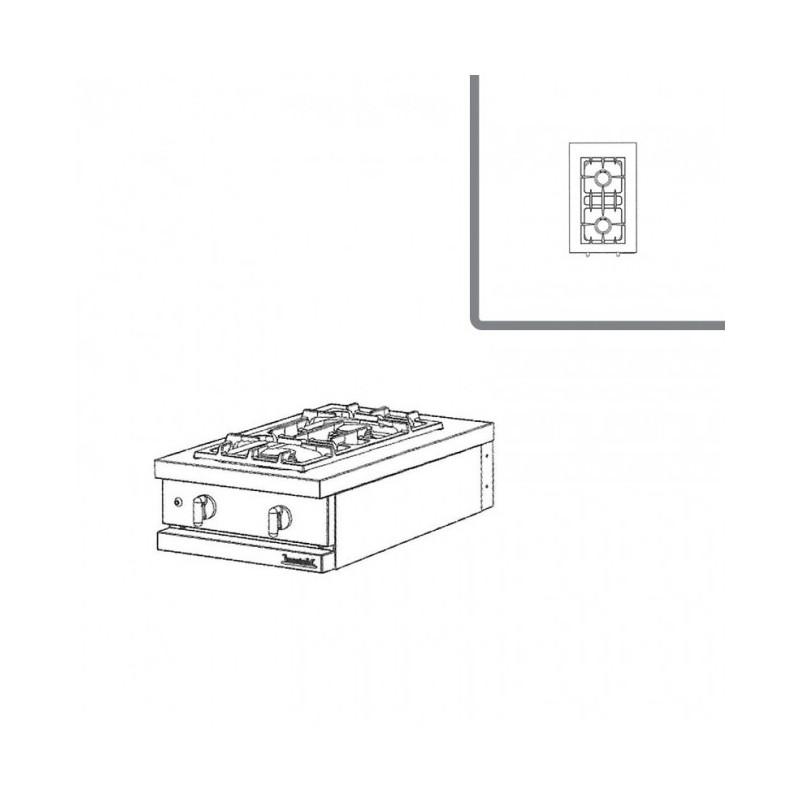 Table de cuisson gaz 2 feux vifs 3kw avec s curit - Table cuisson gaz 2 feux ...