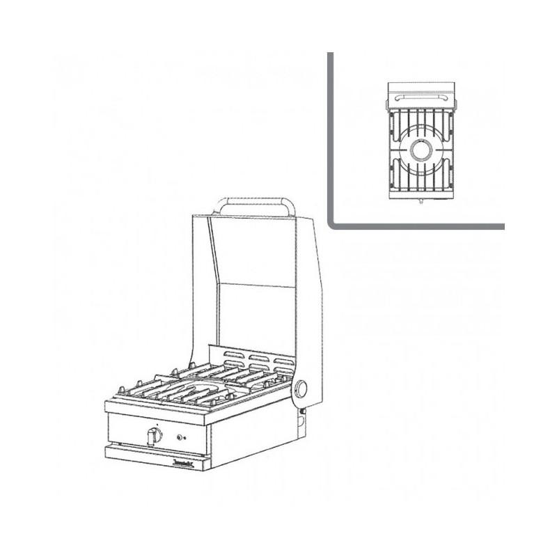 WESTAHL - Table de cuisson Gaz 1 feu vif, à poser, AVEC couvercle