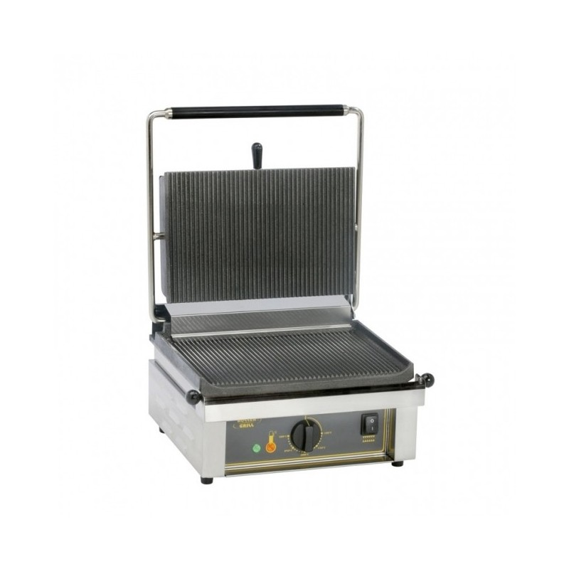 ROLLER GRILL - Contact Grill plaques rainurées - 360 x 240 mm