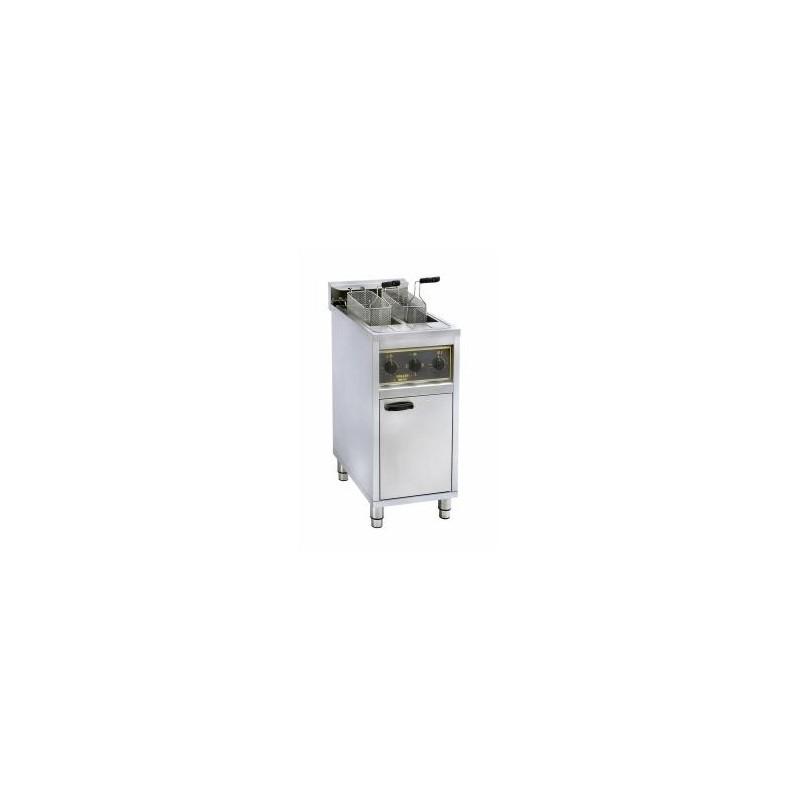 ROLLER GRILL - Friteuse sur coffre à zone froide - 2 x 10 L