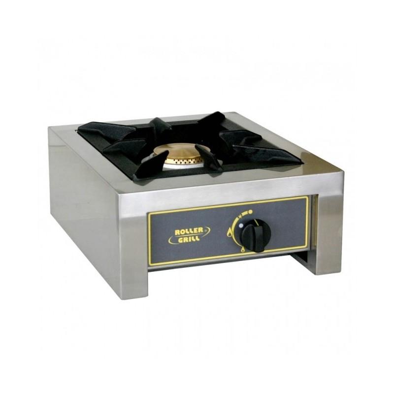 ROLLER GRILL - Réchaud gaz en inox 1 brûleur - 7 kW