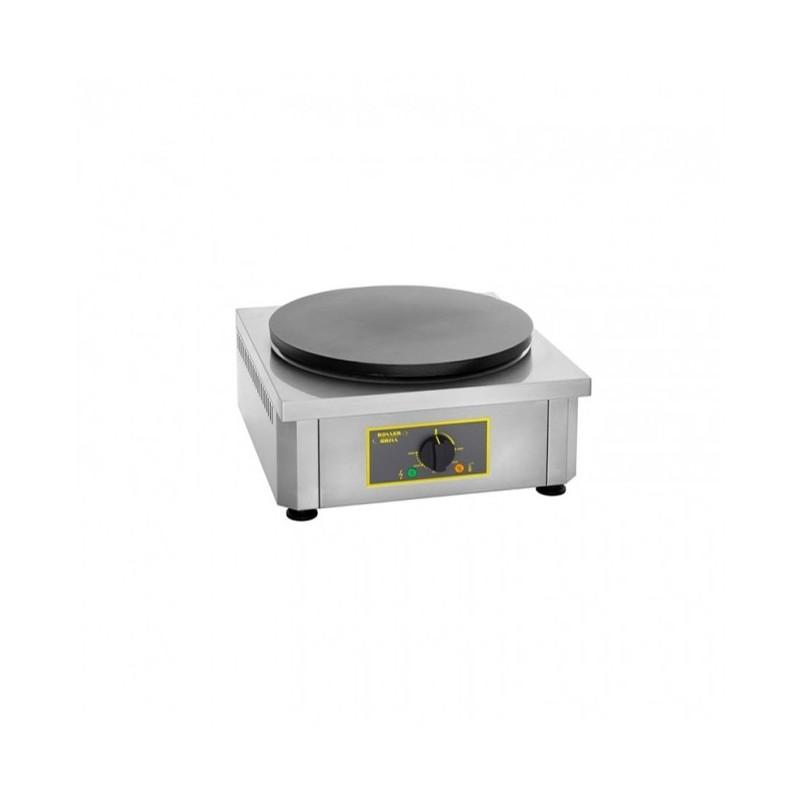 ROLLER GRILL - Crêpière simple électrique, plaque émaillée Ø 400 mm