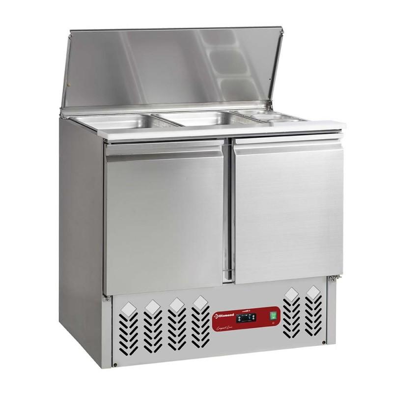 DIAMOND - Saladatte réfrigérée 2 GN1/1 +3 GN1/6 sur 2 Portes GN 1/1 - 240 Litres