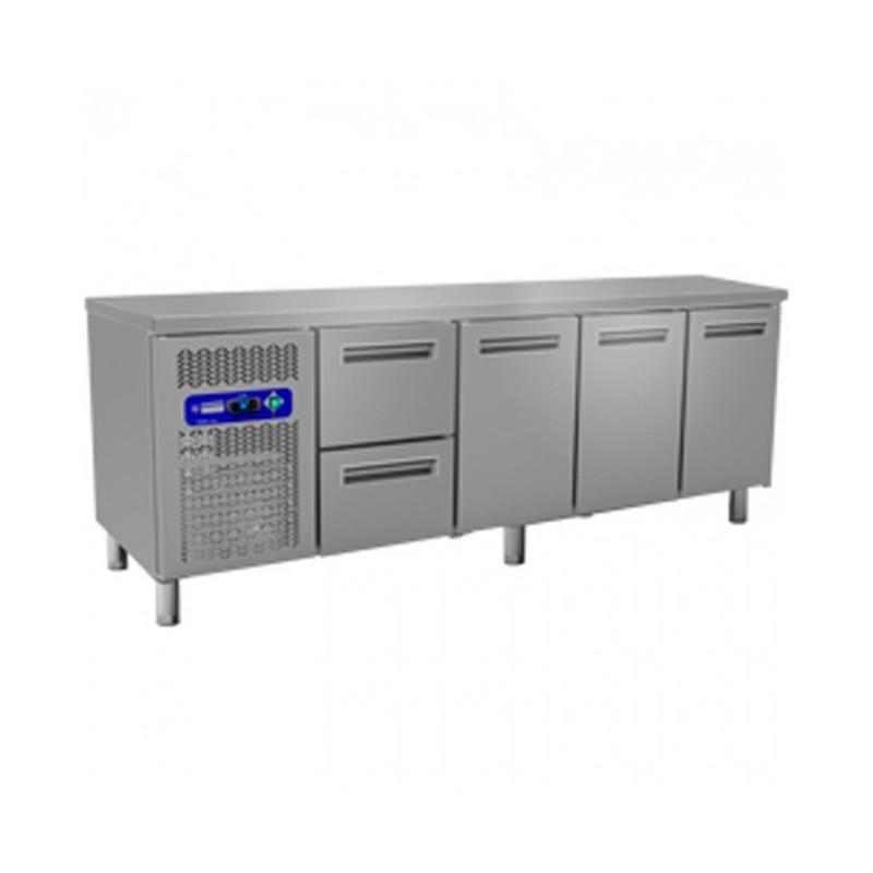 DIAMOND - Table réfrigérée positive 3 Portes GN 1/1 + Tiroirs - Gamme 700