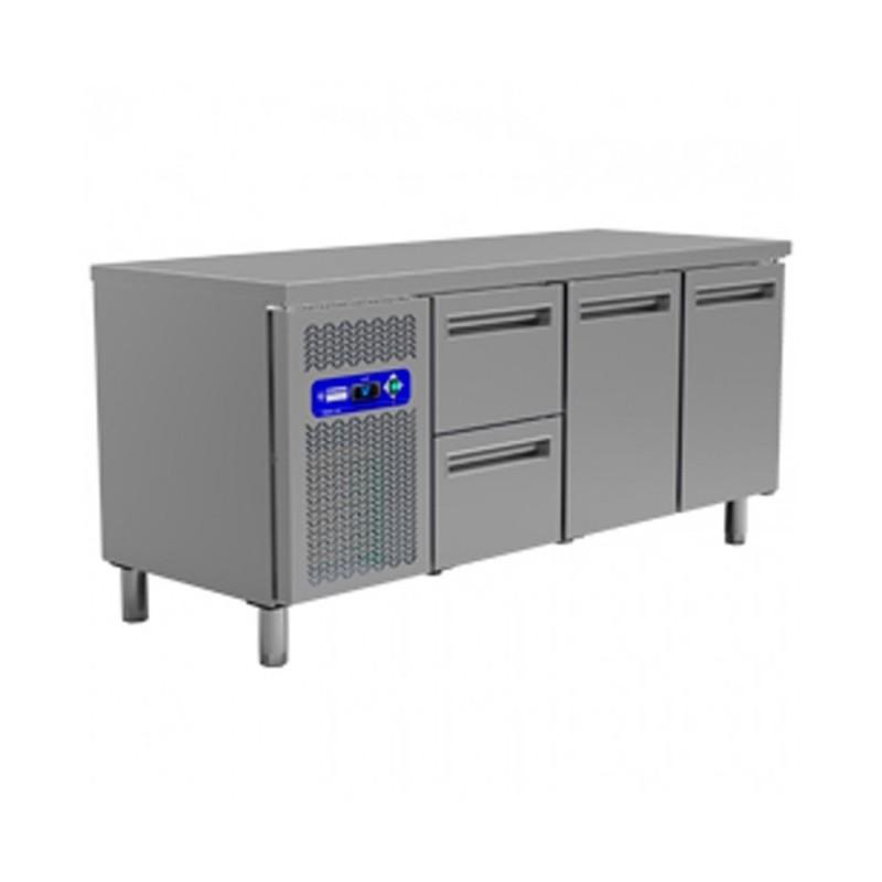 DIAMOND - Table réfrigérée positive 2 Portes GN1/1+ TIROIRS - Gamme 700