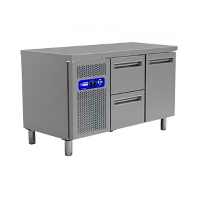 DIAMOND - Table réfrigérée positive 1 Porte GN1/1 + Tiroirs - Gamme 700