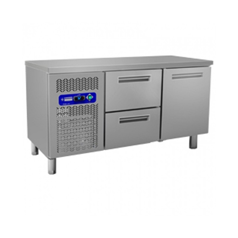 DIAMOND - Table frigorifique, ventilée, 1 porte + Tiroirs - Gamme 600
