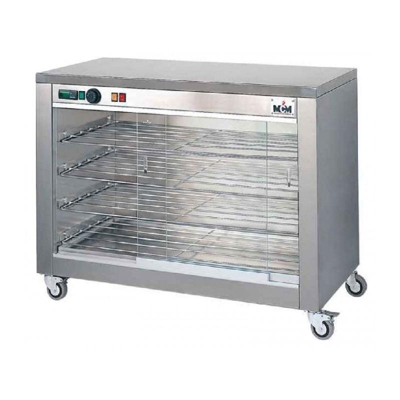 MCM - Vitrine chauffante avec 4 niveaux de grille et vitres sur les 2 faces