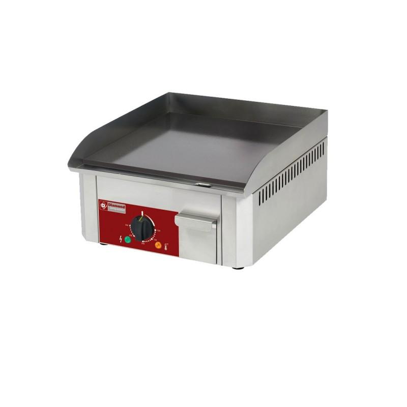 DIAMOND - Plancha électrique - Acier émaillé - 400 x 400 mm