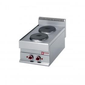 DIAMOND - Cuisinière 2 plaques électriques Top, série 650