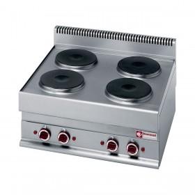 DIAMOND - Table de cuisson 4 plaques électriques Top, série 650