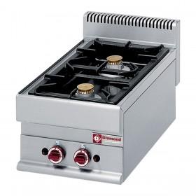 DIAMOND - Table de cuisson Top 2 feux gaz, série 650