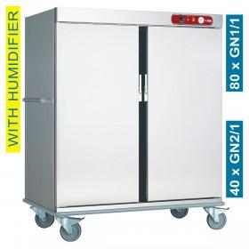 DIAMOND - Chariot de maintien à température pour repas, 40 GN 2/1
