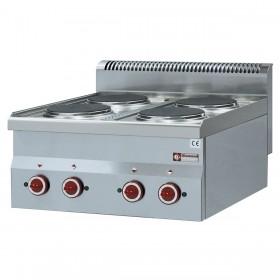 DIAMOND - Cuisinière Top 4 plaques électriques, série 600
