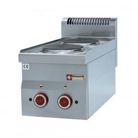 DIAMOND - Table de cuisson Top 2 plaques électriques, série 600