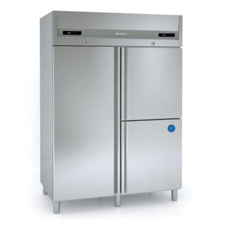 CORECO - Armoire Bi-température GN 2/1, 1 porte + 2 portillons dont 1 négatif
