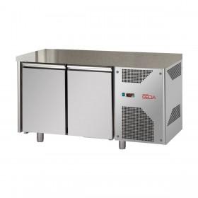 SEDA - Table réfrigérée négative inox 320 L, 2 portes pleines GN 1/1