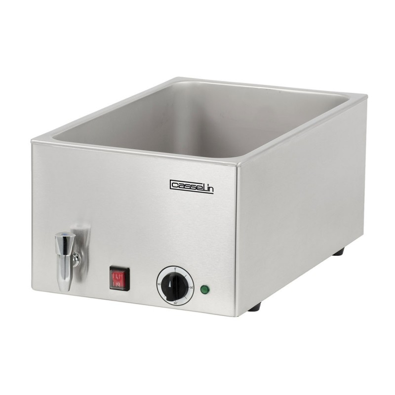CASSELIN - Bain-marie électrique avec robinet de vidange GN 1/1