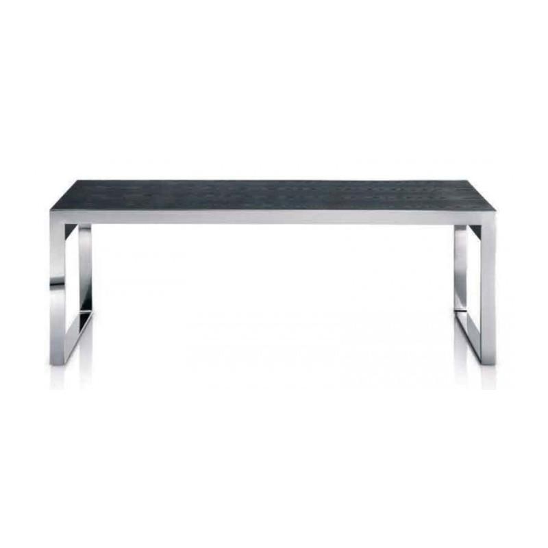 CHR-Avenue - Table basse pour acceuil, métal et bois