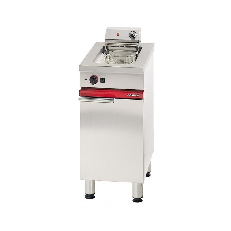 AMBASSADE - Friteuse électrique professionnelle sur coffre avec vidange, capacité 8 L