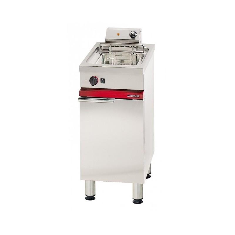 AMBASSDE - Friteuse électrique sur coffre avec vidange, capacité 12 L