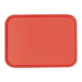 CAMBRO - Lot de 12 plateaux polypropylène à rebord élevé - rouge