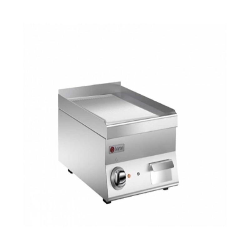 BARON - Grillade électrique, Gamme 650 - plaque rainurée de 22 dm²